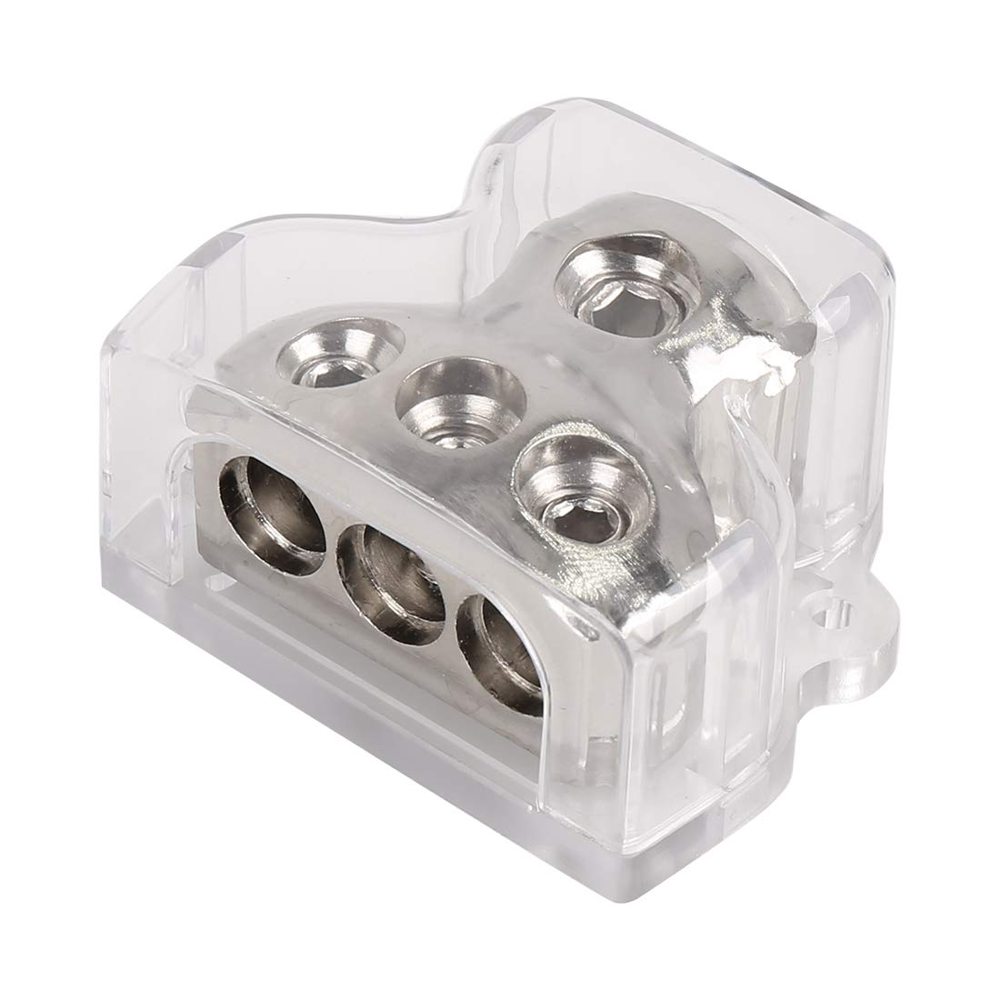 X AUTOHAUX 1 in 3 Out Car Audio Cable Splitter Block Ground Distribution Connector Box Holder