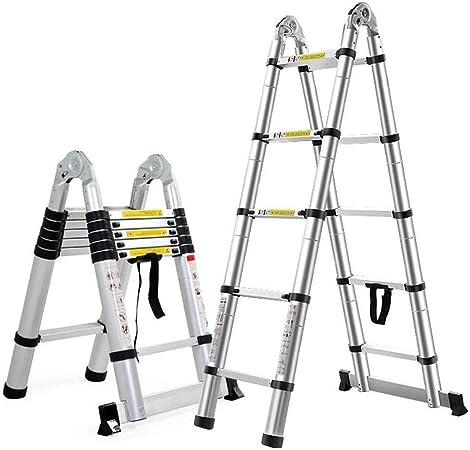LCOUZ Taburete, Escaleras Telescópicas Escalera Recta De Aluminio Escalera Con Marco En A Retractable Plegable Ahorre Espacio For Trabajos De Jardinería De Constructores De Bricolaje Multifunción, Car: Amazon.es: Hogar