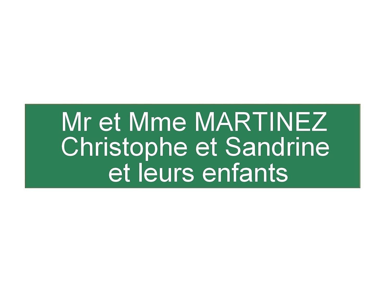 plaque ou etiquette boite aux lettres 3 lignes - verte 100x25mm Gravure Discount