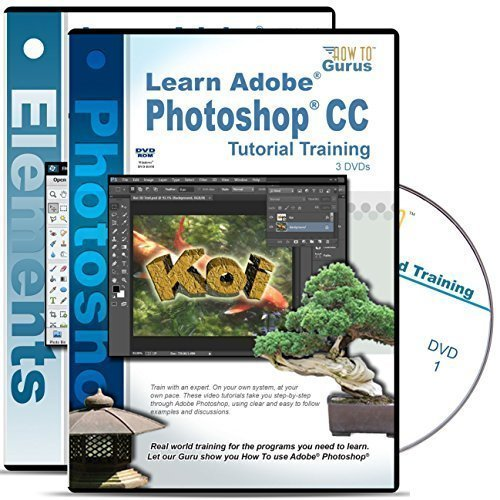 Quick Learn Adobe Photoshop CC Tutorial & Adobe Photoshop Elements 13 Training on 5 DVDs