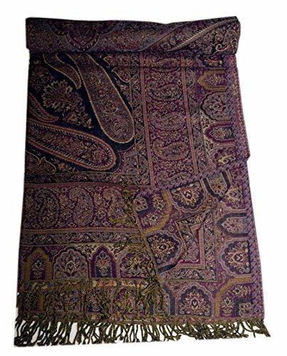 Jamawar Indian Bedspread Ethnic Paisley Bedding Cashmere Couch Sofa Throw (Jamawar Bedspread)