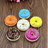 1PCS Stress Relief Toy, Squishy Squeeze Stress Reliever Soft Colourful Doughnut Scented Slow Rising Toys