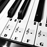 COCODE Piano Key Stickers Removable Keyboard Note Decals for 49 61 76 88 Key Keyboards
