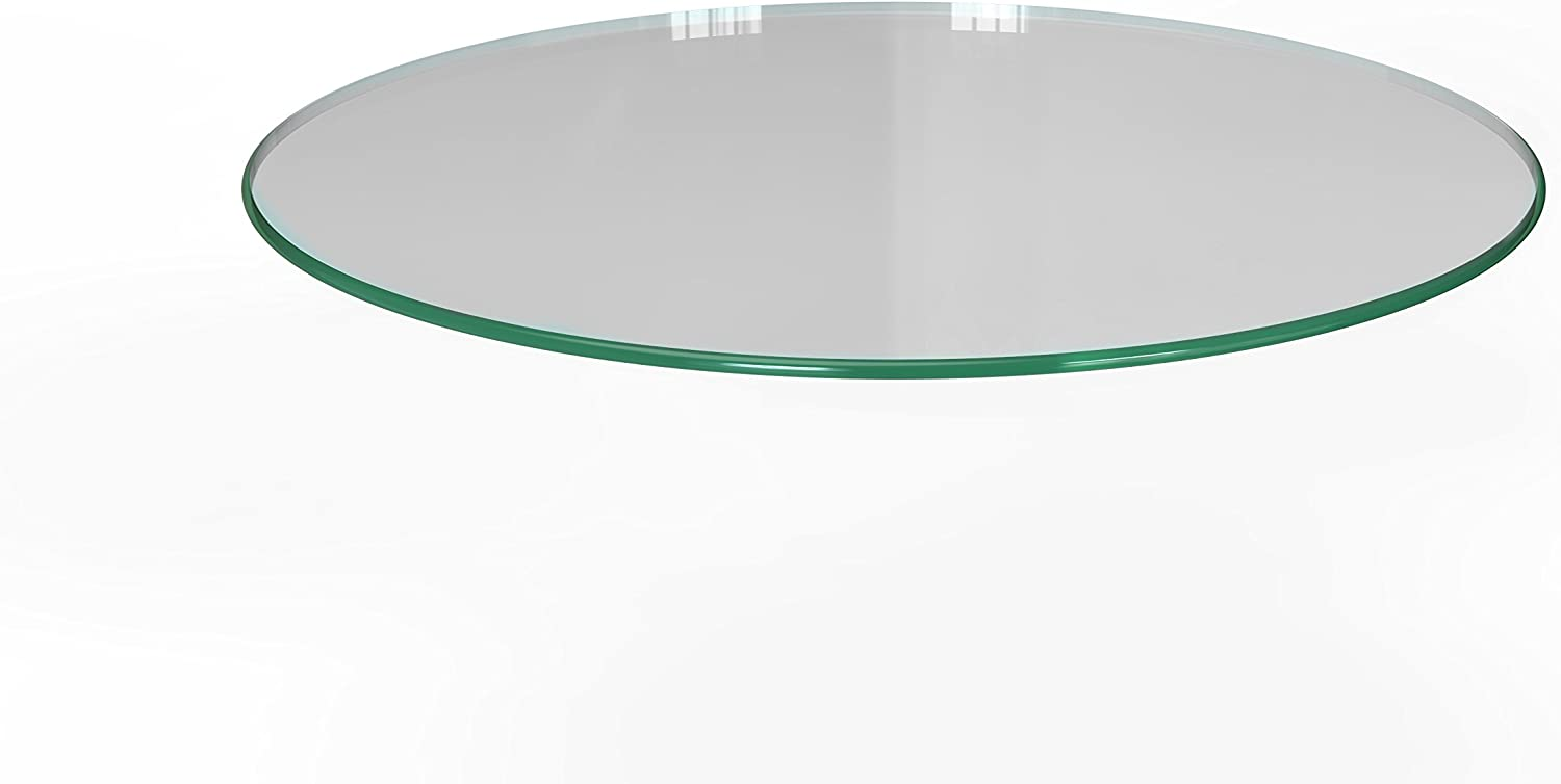 Milan 30 Round Tempered Glass Top 3 8 Thick with Pencil Polish Edge