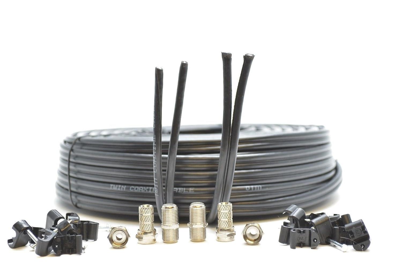 Generic - Cable F enchufes CK Doble SHO para Escopeta coaxial con ...