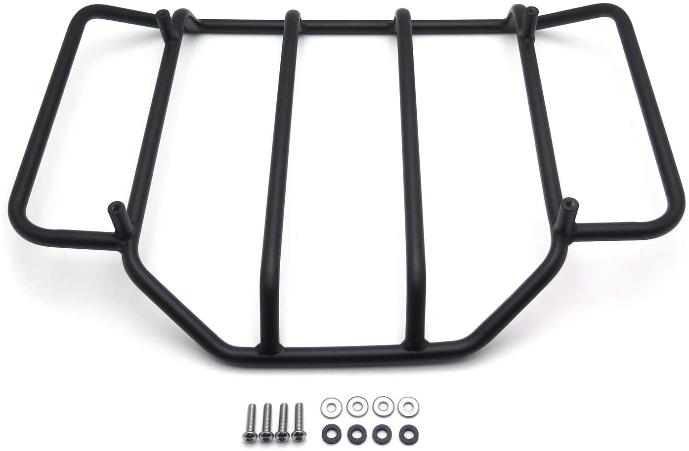XKMT-Black Luggage Rack Rail Trunk Luggage Rack Rail Compatible With Harley Touring Road King Street Glide Road Glide Electra Glide FLHTC FLHS B01BCZKF7O