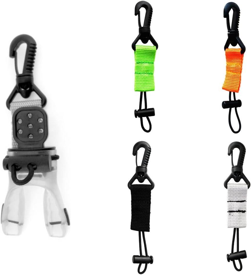 FLAMEER Universal Regulator Octopus Holder Retainer Clip Lanyard Scuba Diving Gear Accesorios del Equipo