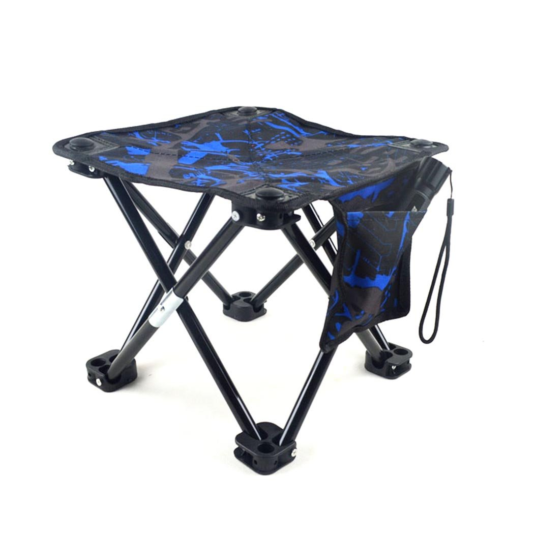 BubbyBear Small Folding Chair,Portable Lightweight Waterproof 600D Oxford Outdoor Folding Chair for Camping Fishing Travel Hiking picnic Beach Quickly Fold Chair Stool by BubbyBear