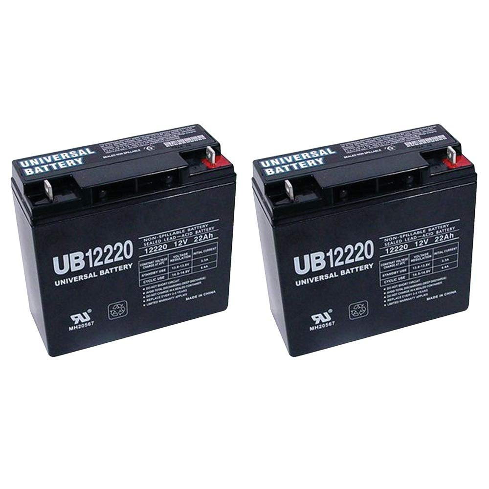 Universal Power Group UB12220 12V 22Ah Rascal 320, 500 T, 500T Battery - 2 Pack by Universal Power Group