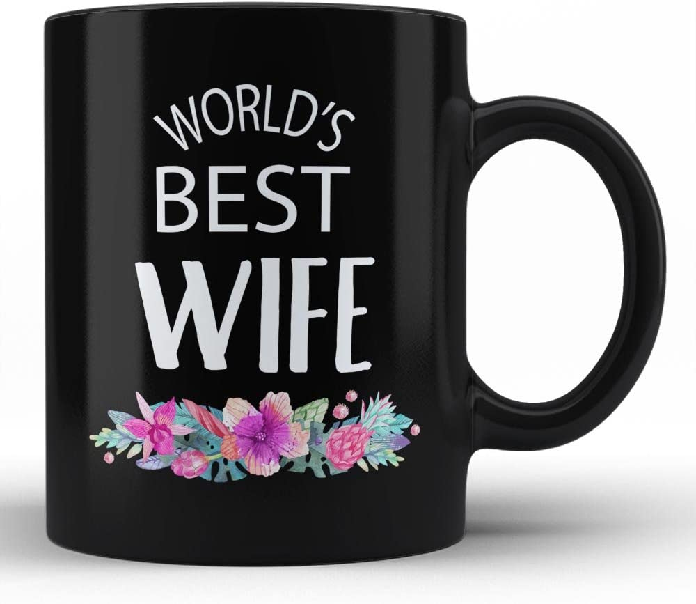 World S Best Wife Mug Wife Ever Gifts For Her Birthday Gift Unique Black Funny Coffee Mugs By Hom Kitchen Dining