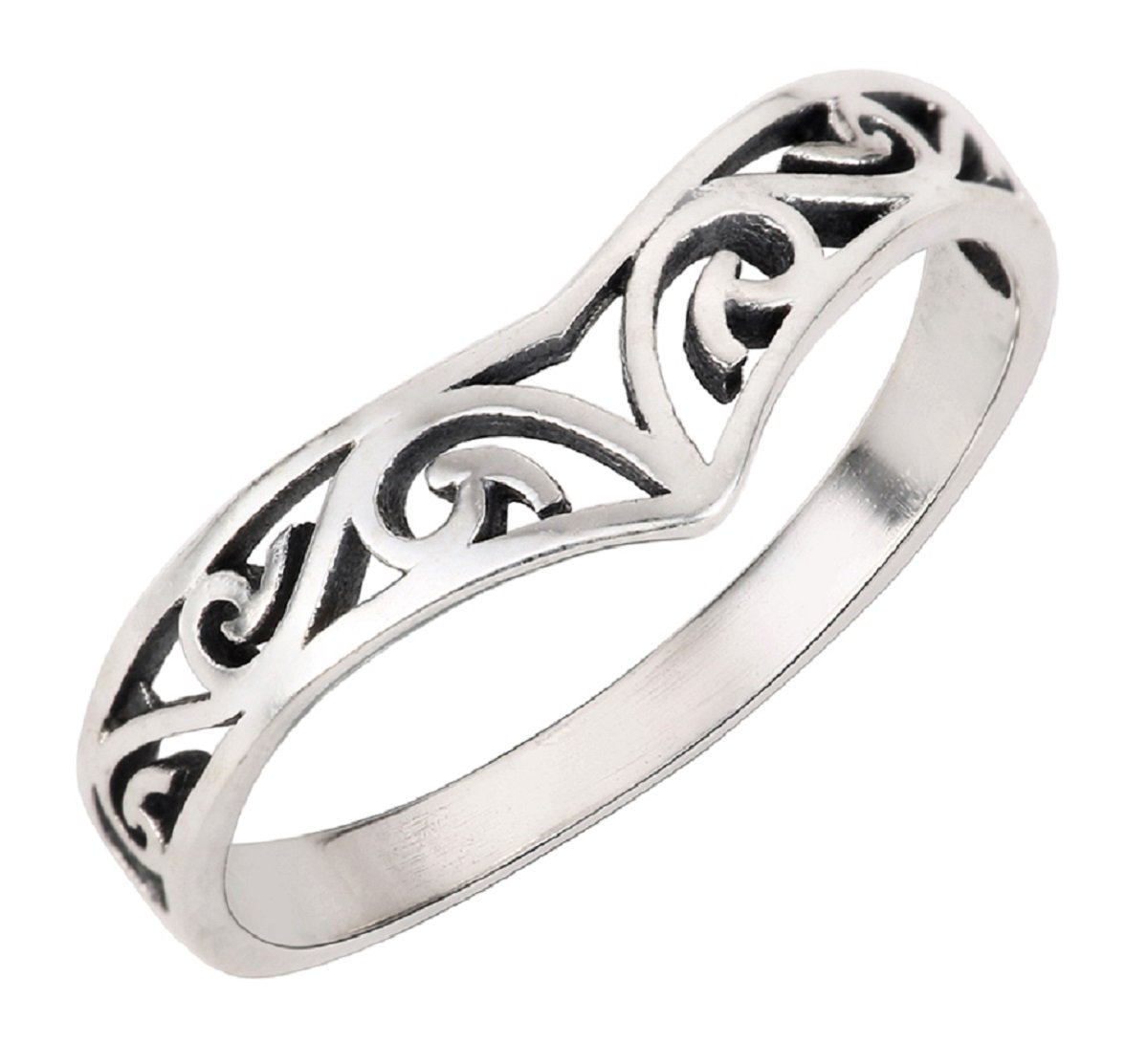 CloseoutWarehouse Sterling Silver Pointed Filigree Ring Size 4