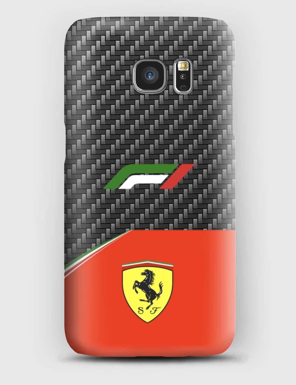 F1 carbon Ferrari Funda para el Samsung S6, S7, S8, S9, A3, A5, A7A8, J3, J5, Note 4,5,8,9,