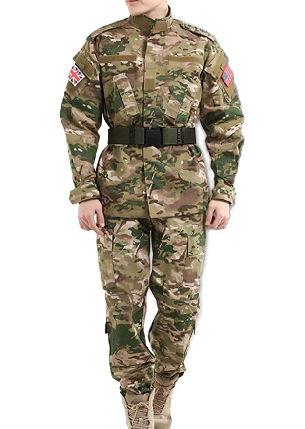 Amazon.com: hfda Tactical BDU woodland-digital – Chaqueta ...