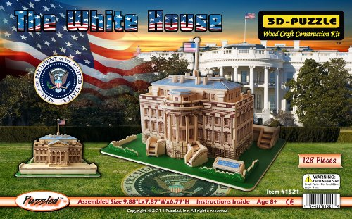 3D Natural Wood Puzzle - The White House Christmas Present Ideas 13 Year Old Boy
