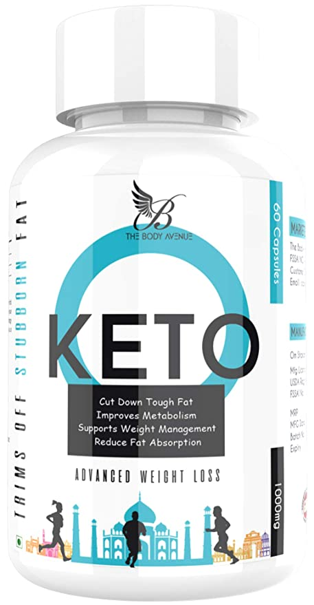 The Body Avenue Keto Capsules for Advance Weight Loss 1000mg, Fat