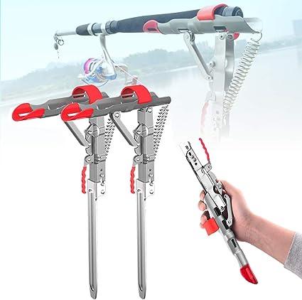 Lengthened Automatic Adjustable Tackle Bracket Double Spring Fishing Rod HoldeOT