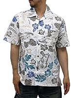 (ルーシャット) ROUSHATTE アロハシャツ 半袖 大きいサイズ ハイビスカス