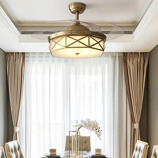 36W Luz LED Invisible para Ventilador De Techo, Aspas Retráctiles ...