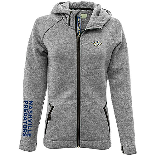 (Levelwear LEY9R Adult Women Motion Insignia Bold Full Zip Hooded Jacket, Heather Pebble,)