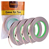 4 Pack Copper Foil Tape,Copper Tape Double-Sided Conductive with Adhesive for EMI Shielding, Slug Repellent, Paper…