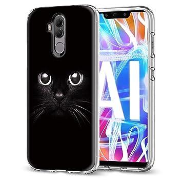 Funda Huawei Mate 20 Lite, Eouine Cárcasa Silicona 3D Transparente con Dibujos Diseño [Antigolpes] de Protector Bumper Case Cover Fundas para Movil ...