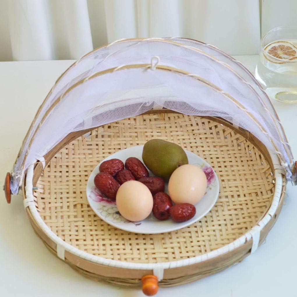 iloving Cibo Che Serve Tenda Cesto di Frutta Verdura Pane Copertura Storage Container Outdoor Picnic Cibo Maglia Paletta