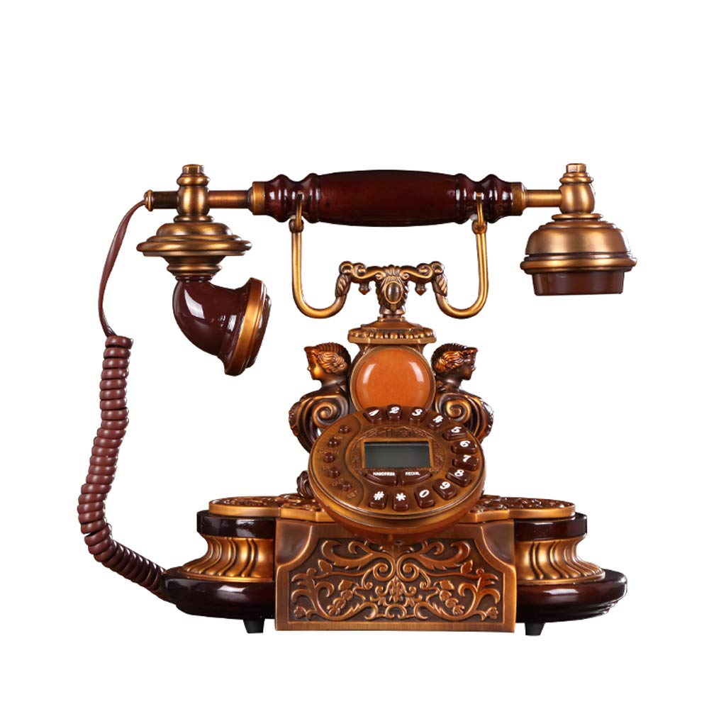LCM Antique Decorative Phone, Mobile Phone Landline Home Creative Office Fixed European Antique Retro Resin Phone by LCM