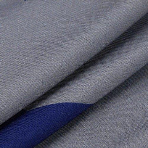 Stella Camicetta Casuale Punte Stella Stampate con Grigio Maniche Shirt Scollo Cinque a Camicia Stampa Camicia Senza Donna a Corte t Estate Longra Estivo Top Spalline Maglietta p1qS8I5nxw
