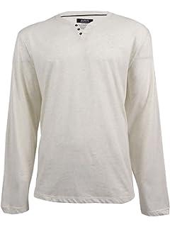 9e2c1d38f9 Alfani Mens Baseball Collar Henley Shirt Blue M at Amazon Men's ...