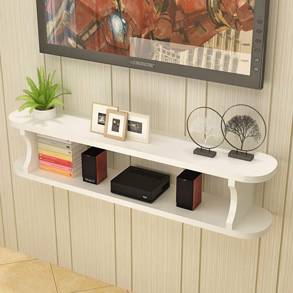 フローティング棚壁掛けテレビキャビネット棚テレビコンソールルーター棚DVDセットトップボックス電話収納ラック吊りボックス (色 : E, サイズ さいず : 120cm) B07MSKF9GG E 120cm