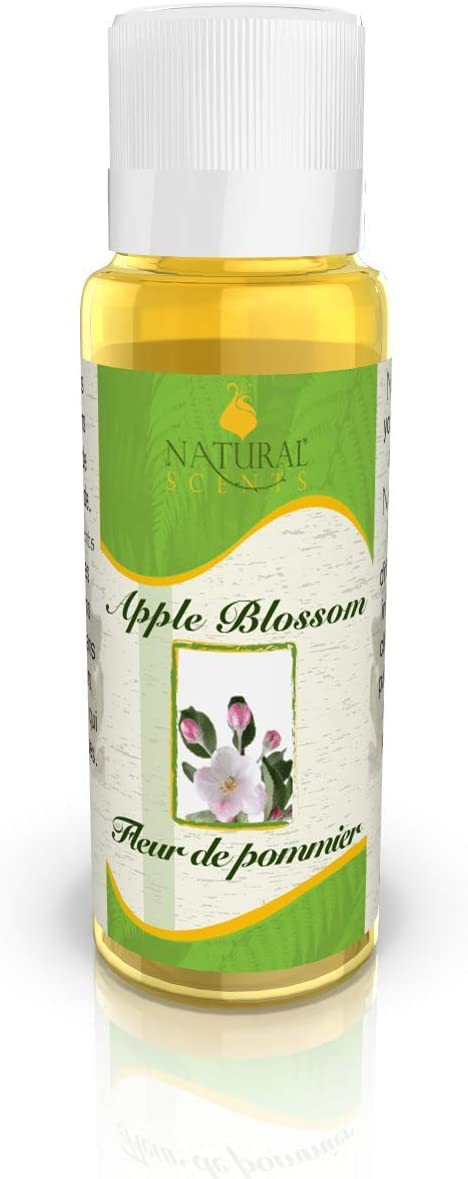 100% Natural Incense Oil - Perfect for Meditation, Yoga, Relaxation, Aromatherapy, Healing, Prayer & Rituals – 15ml Bottle (Apple Blossom)