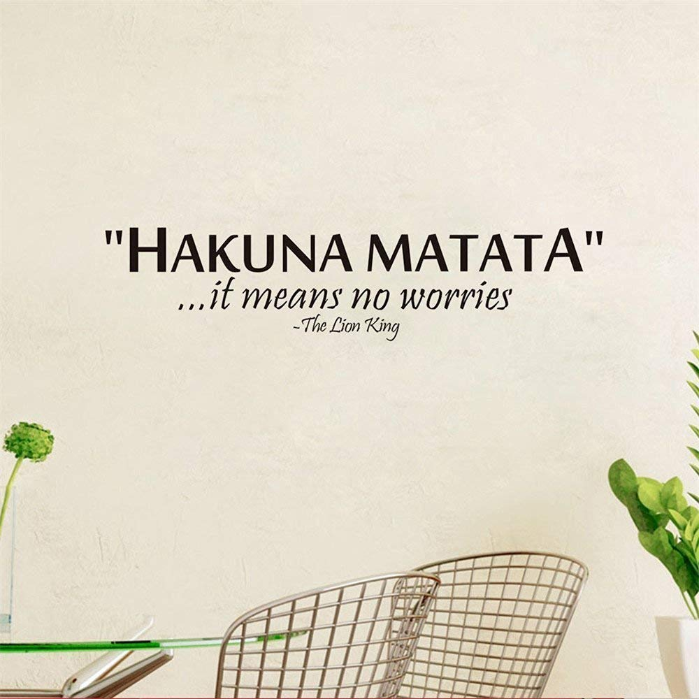 Removable PVC Wall Sticker Words Sign Quote Hakuna Matata Lion King Bedroom Background Decoration