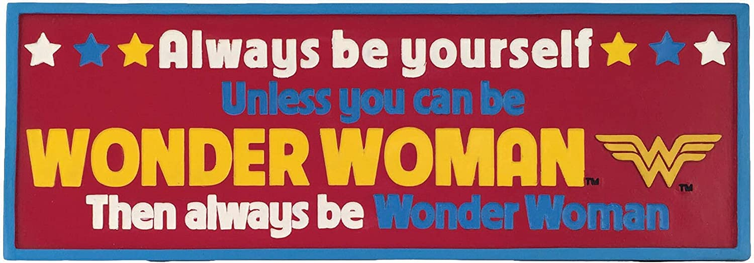 Spoontiques Wonder Woman Desk Sign