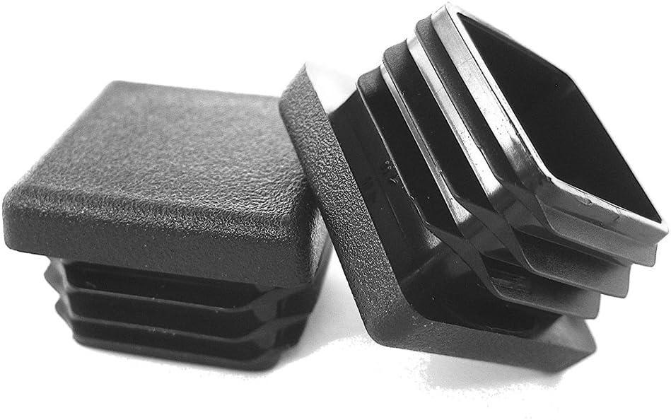Prescott Plastics 1 Inch Square Plastic Plug, Tubing Post End Cap, Chair Glide (20)