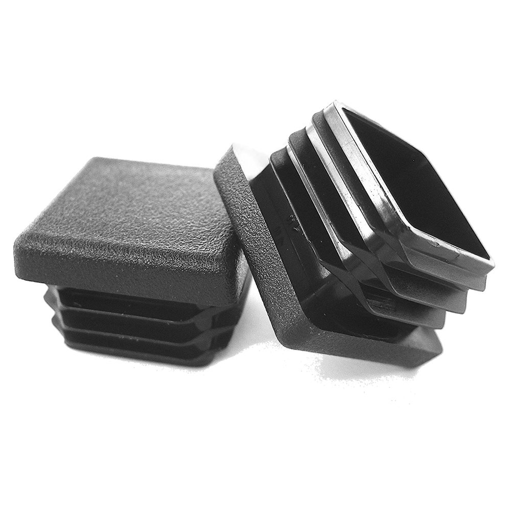 10 Pack - 1 1/4'' Square Tubing Black Plastic Plug, 1.25 Inch End Cap 1-1/4'' Fence Post Pipe Finishing Caps Insert Chair Glide by Prescott Plastics, LLC (Image #1)