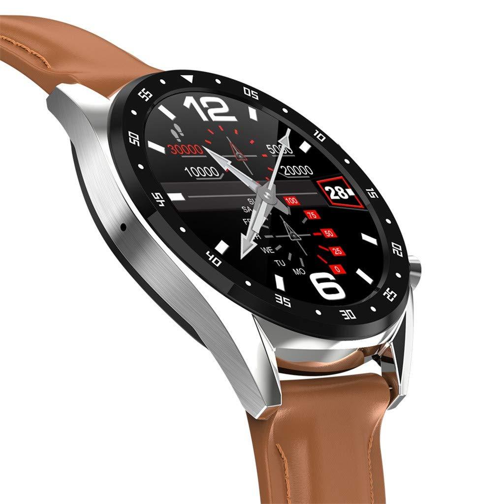 YEZIJIN L7 Color Screen Blood Pressure Heart Rate Monitor Smart Watch Pedometer Tracker Under 50 Dollars by YEZIJIN Men's Watch (Image #3)