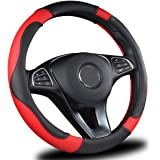 AmeriLuck Car Steering Wheel Cover, Universal 15 inch, Odorless, Breathable, Anti-Slip, Sporty, Soft & Snug Grip (Micro…