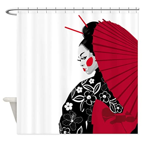 Amazon CafePress Geisha Decorative Fabric Shower Curtain 69