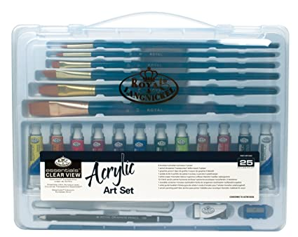 Royal & Langnickel RSET-ART3202 Essentials Clear View Acrylic Painting Set, Large