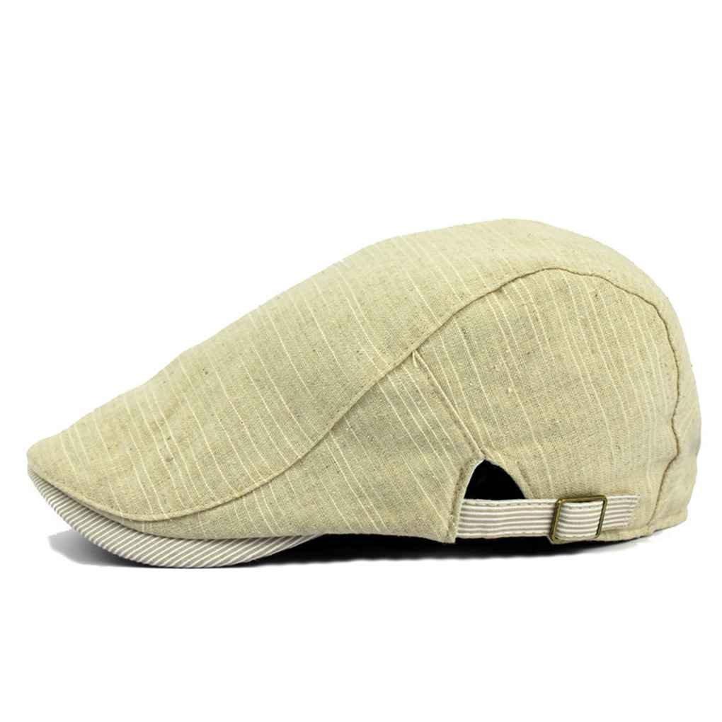 Bobury Boinas de la raya del verano de la primavera Estilo de Inglaterra Boina sombreros para hombres o mujeres Cap