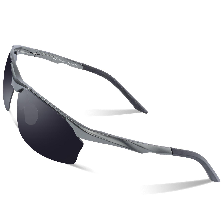 DUCO Polarisierte Sonnenbrille Herren für Radfahren Angeln Golf ...