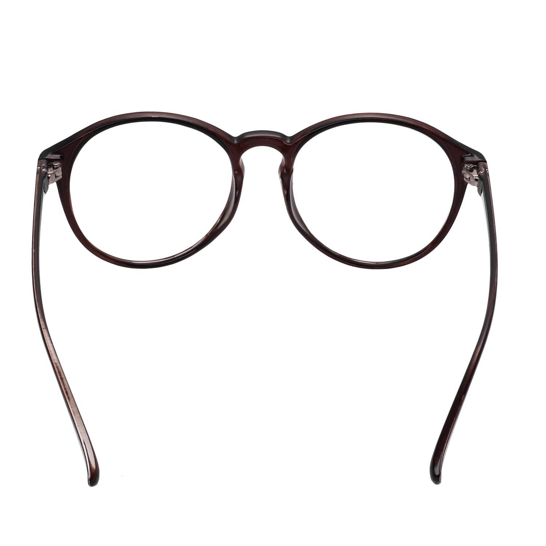 d196ed614a Forepin/® Lunettes Rondes Vintage pour Femme et Homme Montures Lunettes de Vue  Cadre Frame Lentille Claire Verres Optiques Unisex ...