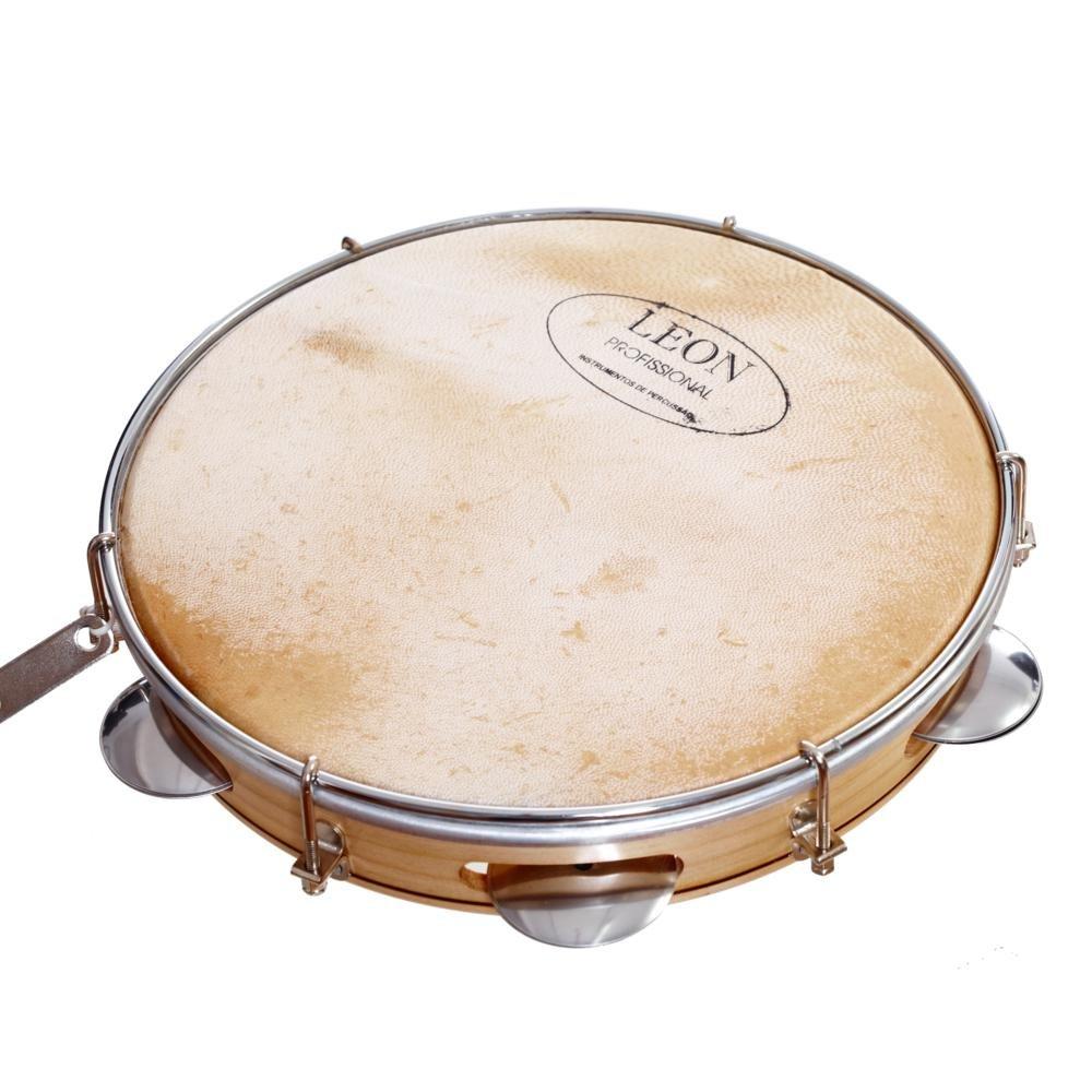 piel, madera, para samba, 25,4 cm //10 pulgadas Pandereta Anandashop Capoeira