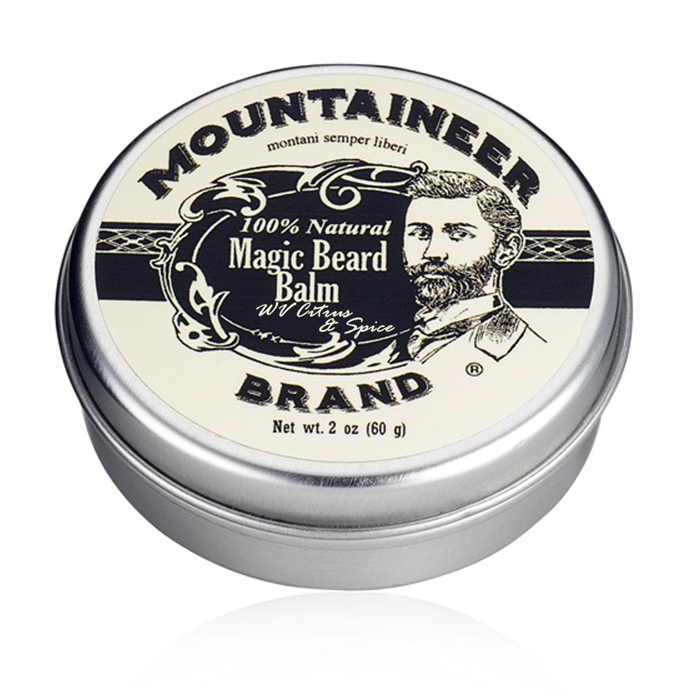 Magic Beard Balm by Mountaineer Band: All Natural Beard Conditioning Balm (WV Timber) Mountaineer Brand