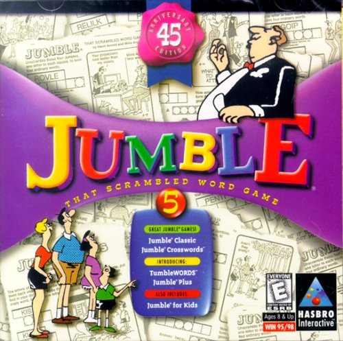 Jumble: That Scrambled Word Game, 45th Anniversary Edition (Jewel Case) Game Box Solitaire