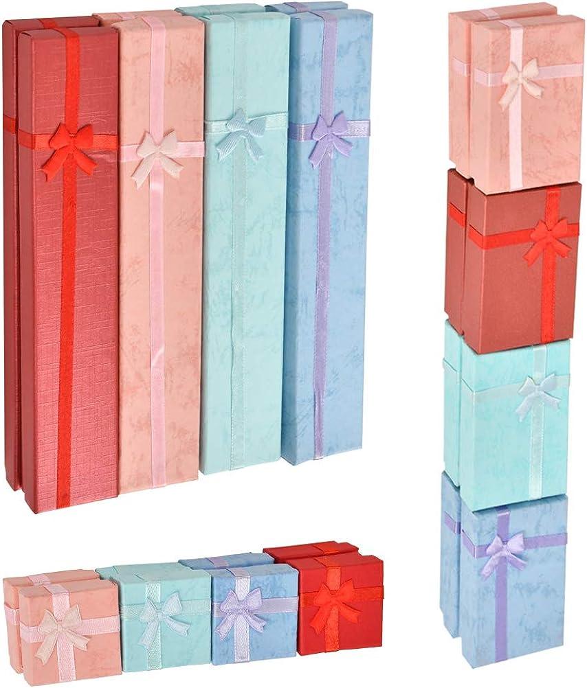 Collares Pendientes DODUOS 24 PCS Caja de Cart/ón con Esponja para Pulsera Caja de Regalo para Collar con Tapa Caja de Papel para Joyer/ía para Embalaje de Regalo Anillos Pulsera