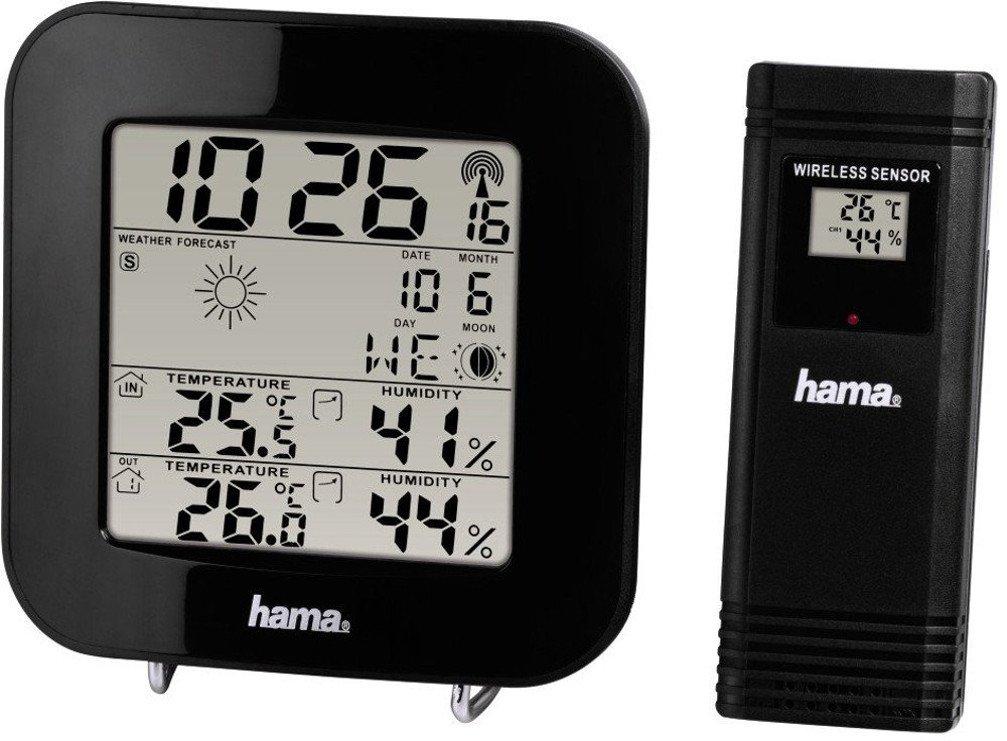 Hama EWS200 Weather Station with Outdoor Sensor Black [136222]