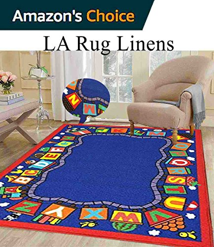 5x7 Kids Boys Children Toddler Playroom Rug Nursery Room Rug Bedroom Rug Fun Colorful ( Alphabet Train - Best Current Location Near Buy