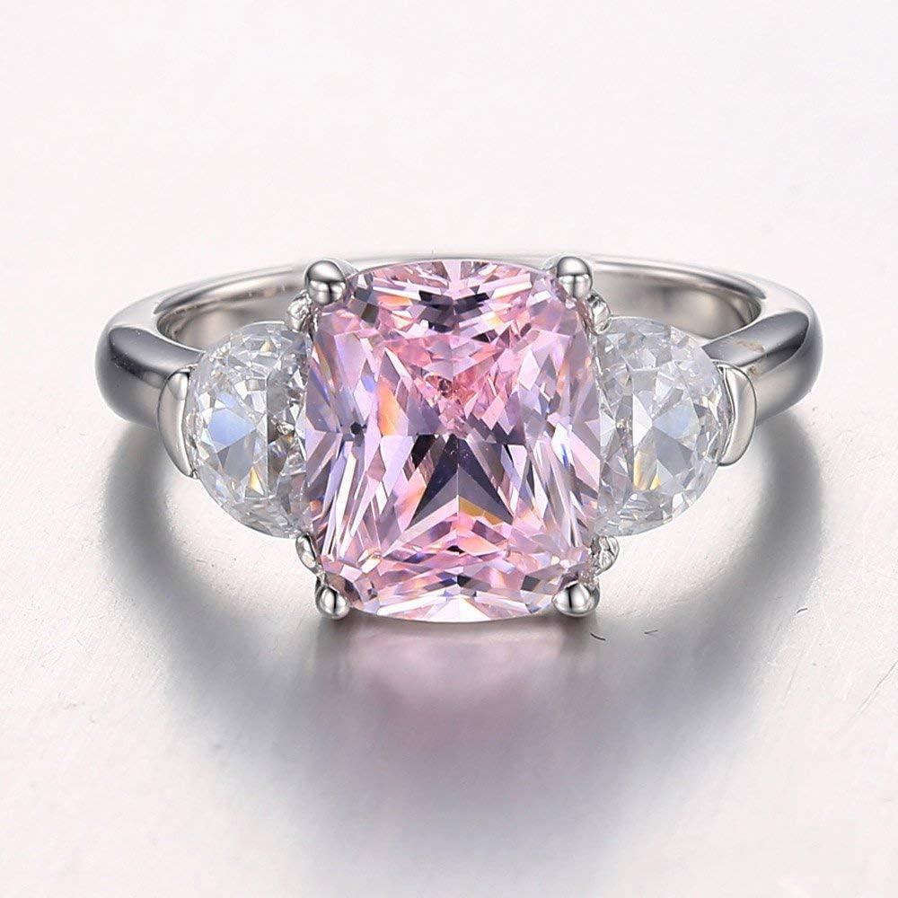 Details about  /Natural Round 4-5 Ct Pink Zircon 925 Sterling Silver Unisex Gemstone Ring