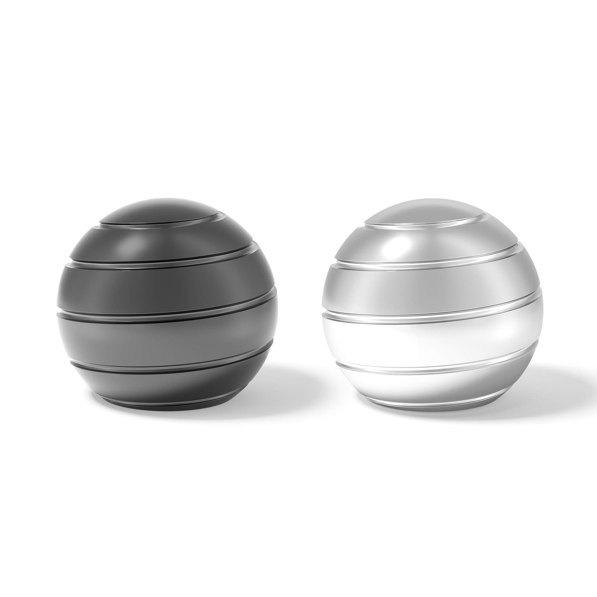 Vefindor Fidget Stress Relief Kinetic Desk Toys for Office for Adults for Kids, Optical Illusions Inspire Creativity Spinner Balls (Gray Silver) by Vefindor